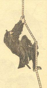 An artist's rendition of my training partner. [Source: Hokusai Manga (1817) by Hokusai.]