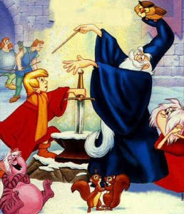 The famous shape-shifting wizard, Merlin - as seen in Disney's Sword in the Stone.