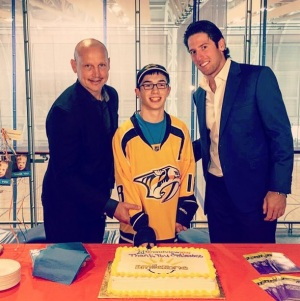 James Neal supporting Smilezone Foundation at the abilities center in Whitby, Ontario. [Source: James Neal's Official Instagram]