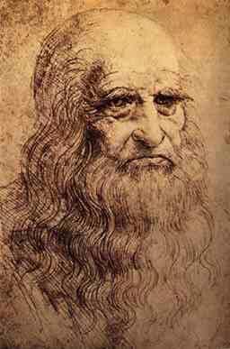 Self-Portrait (1512) by Leonardo da Vinci.